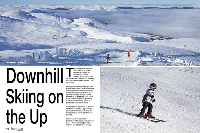 'Downhill skiing on the up'