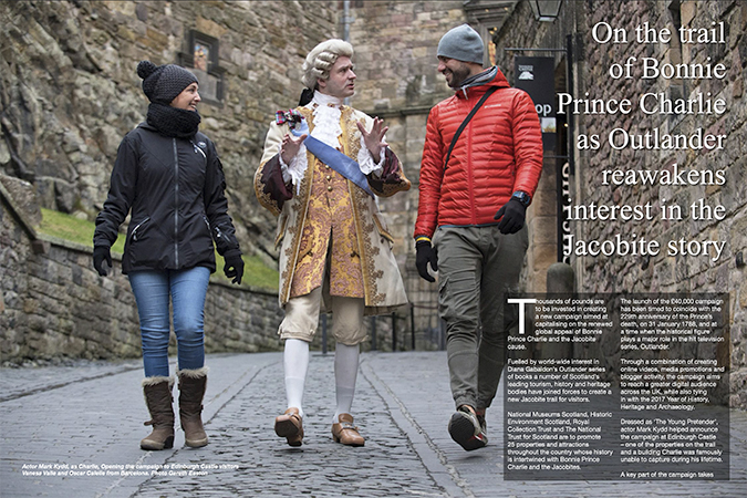 'Outlander awakens interest in Bonnie Prince Charlie'