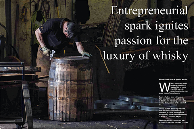 'Passion for the luxury of whisky'
