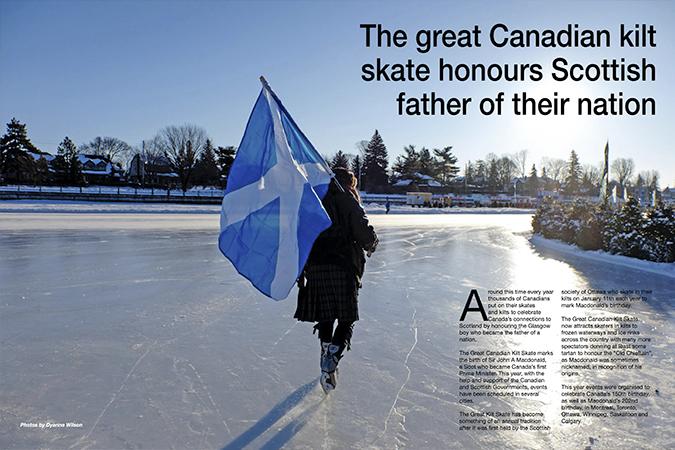 'The Canadian kilt skate'